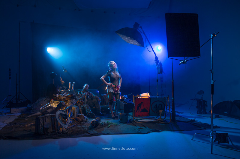 Studio Lighting setup for Tank Girl, Sydney Photographic Workshops Studio Lighting Workshop.