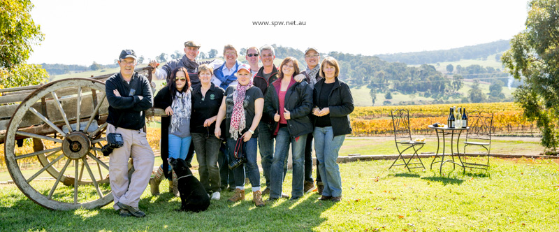 The Group @ Courabyra Wines - 'On Assignment, Adelong' Photography Workshop